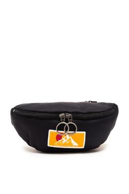 Черная поясная сумка с красно-желтым ремнем Off-White 2202166901