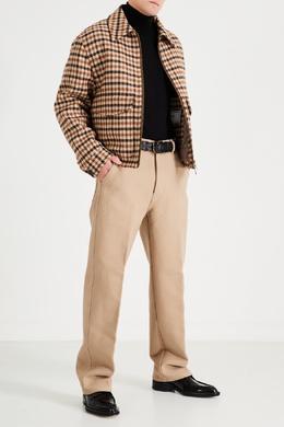 Бежевые брюки из хлопка Ami 1376166691