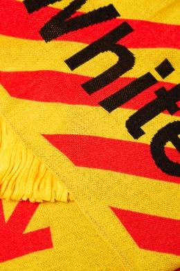 Красно-желтый шарф с логотипом Off-White 2202166892