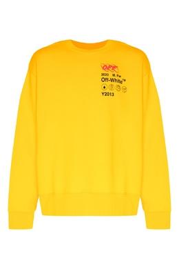 Желтый свитшот с красно-черной вышивкой Off-White 2202166899
