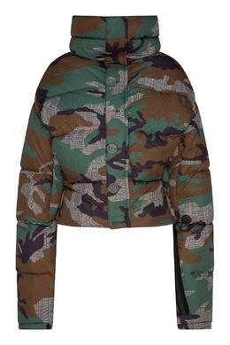 Куртка-пуховик с комбинированным принтом Unravel Project 2852166863