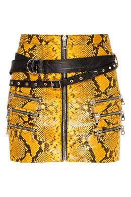 Кожаная мини-юбка с принтом под питона Unravel Project 2852166864