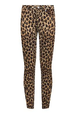 Леопардовые брюки-скинни на кокетке Liu Jo 1776167485