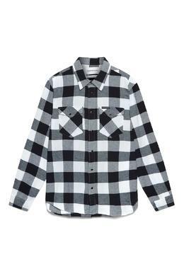 Черно-белая рубашка в клетку Calvin Klein Jeans 2777167397