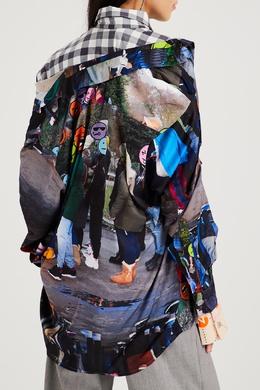 Многослойная комбинированная рубашка Natasha Zinko 1529166365