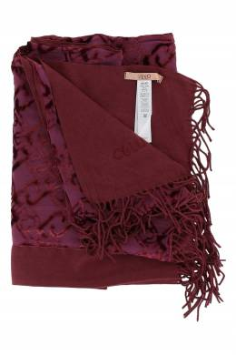 Бордовый шарф с объемным принтом Liu Jo 1776167493