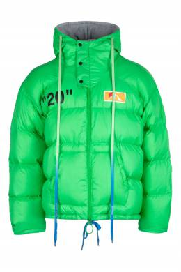 Зеленый пуховик оверсайз Off-White 2202167496