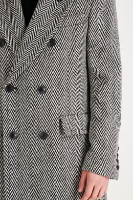 Двубортное пальто с узором «елочка» Ami 1376166712