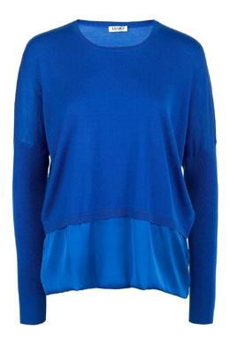 Комбинированный синий джемпер Liu Jo 1776167457