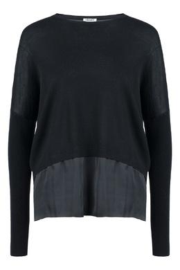Черный джемпер из двух видов ткани Liu Jo 1776167459