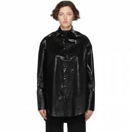 Yang Li Black Oversized Samizdat Shirt 192505F10900202GB