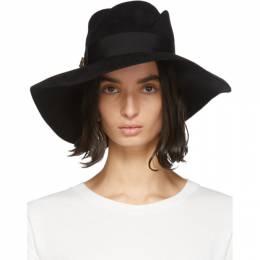 Gucci Black Felt Wide-Brim Hat 201451F01732103GB