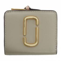 Marc Jacobs Taupe and Pink Mini Snapshot Compact Wallet 201190F04015301GB