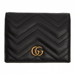 Gucci Black GG Marmont Card Case Wallet 201451F04009801GB
