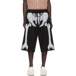 Loewe Black and White William De Morgan Skeleton Shorts 201677M19302205GB