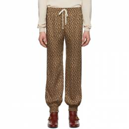 Gucci Brown Jacquard Gucci Rhombus Track Pants 192451M19001901GB