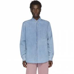 Nanushka Blue Denim Kaleb Shirt 192845M19200404GB
