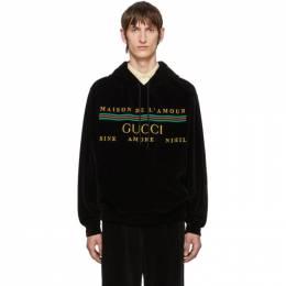 Gucci Black Cotton Chenille Hoodie 192451M20203102GB