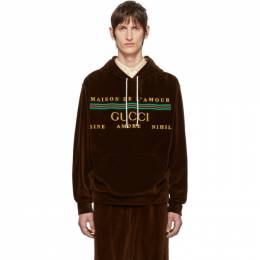 Gucci Brown Cotton Chenille Hoodie 192451M20203202GB