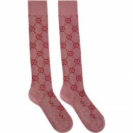 Gucci Pink Crystal GG Supreme Socks 201451F07605902GB