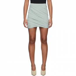 John Elliott Green Velvet Skirt 192761F09000103GB