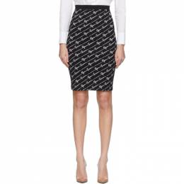 Versace Black Signature Jacquard Skirt 201404F09211503GB