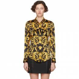 Versace Black V Baroque Shirt 201404F10909703GB