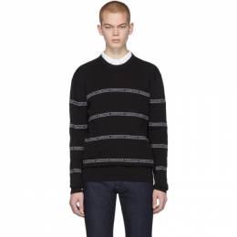 Versace Black Nastro Slim-Fit Sweater 201404M20101203GB