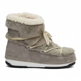 Yves Salomon Grey Moon Boot Edition Shearling Boots 20W20WAC708XXMERL