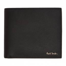 Paul Smith Black Straw Grain Racing Bifold Wallet 201260M16415501GB