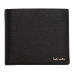 Paul Smith Black Straw Grain Bifold Wallet 201260M16415201GB