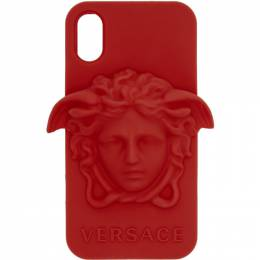 Versace Red Medusa iPhone X Case 201404M15314901GB