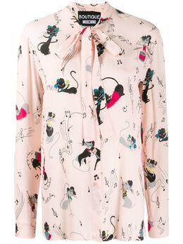 Boutique Moschino блузка с принтом A02115850