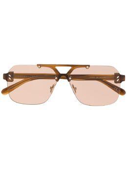 Stella Mccartney Eyewear солнцезащитные очки в квадратной оправе SC0225S
