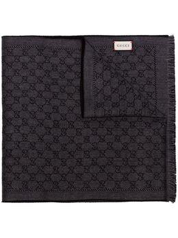 Gucci black logo wool scarf 4020934G200