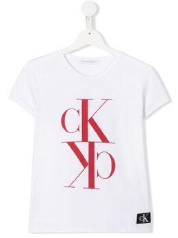 Calvin Klein Kids TEEN logo print T-shirt IG0IG00419