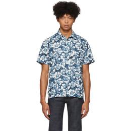 A.P.C. Blue Floral Joseph Shirt 201252M19200704GB