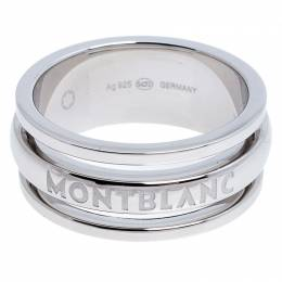 Montblanc Three Ring Motif Silver Men's Band Ring Size 68