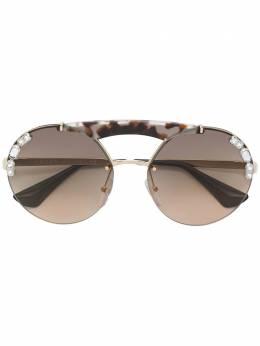 Prada Eyewear декорированные солнцезащитные очки SPR52U