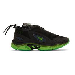 Misbhv Black Reebok Edition Daytona DMX Sneakers 192937M23700209GB