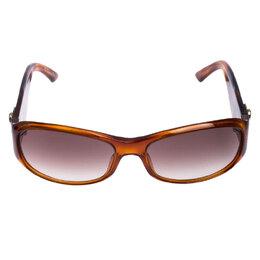 Christian Dior Honey Brown/ Grey 05602 Wrap Sunglasses