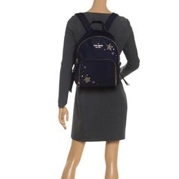 Kate Spade Navy Blue Nylon Embellished Hartley Watson Lane Backpack