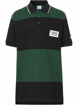 Burberry рубашка-поло в стиле колор-блок с логотипом 8023975