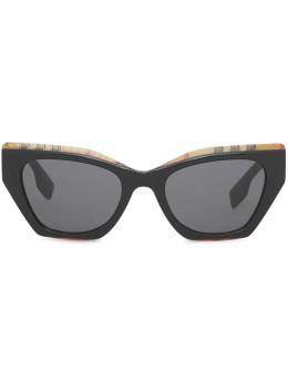 Burberry солнцезащитные очки-бабочки в клетку Vintage Check 4080777