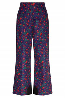 Синие брюки с цветочным принтом Moncler 34167979
