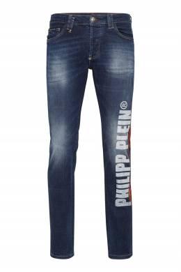 Синие джинсы со стразами Philipp Plein 1795167838