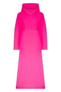 Ярко-розовое платье с капюшоном Cocoon Balenciaga 397168653