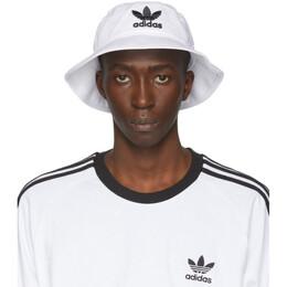 Adidas Originals White and Black Adicolor Bucket Hat BK7350