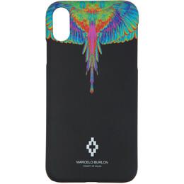 Marcelo Burlon County Of Milan Black Fluo Wings iPhone XR Case CMPA013R20MAT0021040