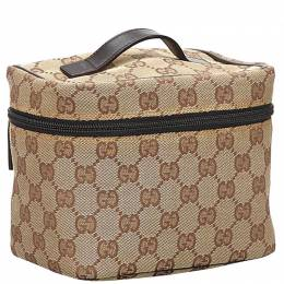 Gucci Brown GG Canvas Vanity Bag